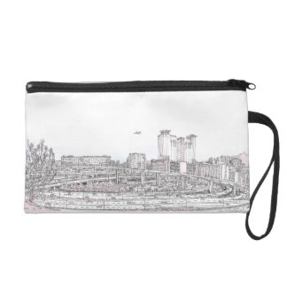 Hong Kong panorama urban sketch Wristlet