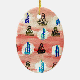 Hong Kong Pattern Christmas Ornament