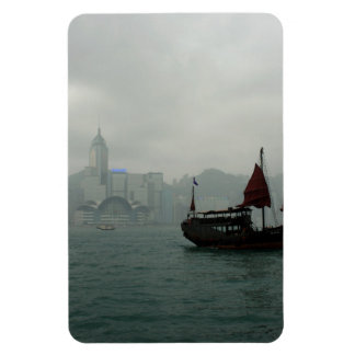 Hong Kong Rectangular Photo Magnet
