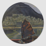 Hong Kong ~ Riviera of the Orient Round Sticker