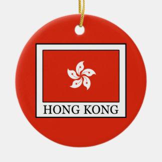 Hong Kong Round Ceramic Decoration