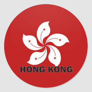 Hong Kong Roundel quality Flag Round Sticker