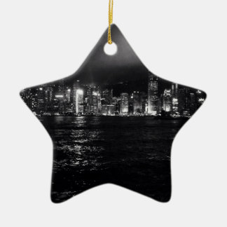 Hong Kong Skyline Ceramic Star Decoration