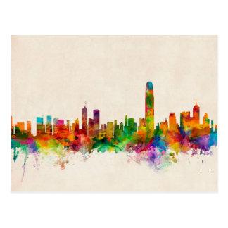 Hong Kong Skyline Cityscape Postcard