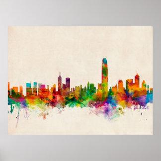Hong Kong Skyline Cityscape Poster