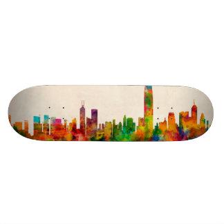 Hong Kong Skyline Cityscape Skate Deck