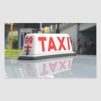 Hong Kong Taxi Rectangular Sticker