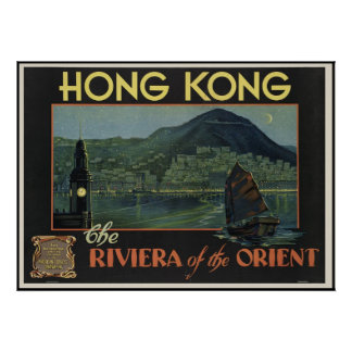 Hong Kong The Riviera of the orient Poster
