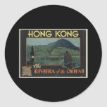 Hong Kong The Riviera of the orient Classic Round Sticker