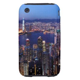 Hong Kong Victoria Harbor at Night Tough iPhone 3 Covers