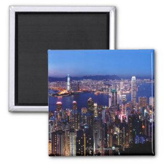 Hong Kong Victoria Harbor at Night Fridge Magnets