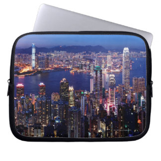 Hong Kong Victoria Harbor at Night Laptop Sleeve