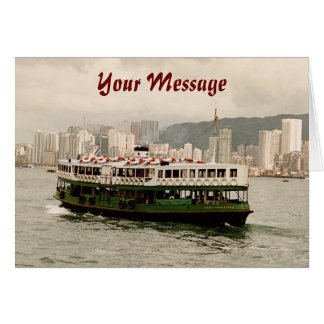 Hong Kong Victoria Harbour Star Ferry Card