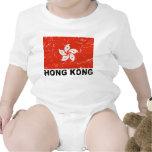 Hong Kong Vintage Flag Baby Bodysuits