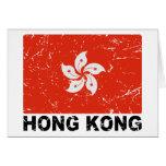 Hong Kong Vintage Flag Greeting Card