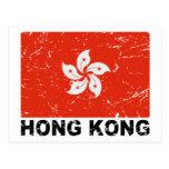 Hong Kong Vintage Flag Postcard
