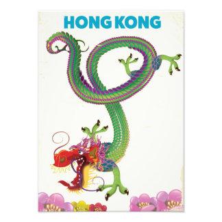 Hong Kong Vintage style travel poster Art Photo