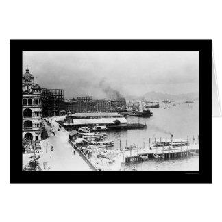 Hong Kong Waterfront 1906 Cards
