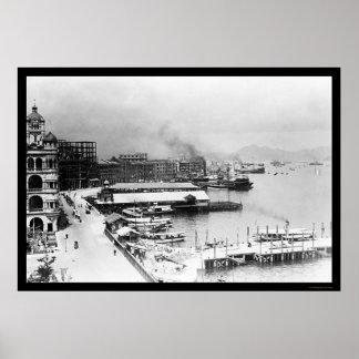 Hong Kong Waterfront 1906 Poster