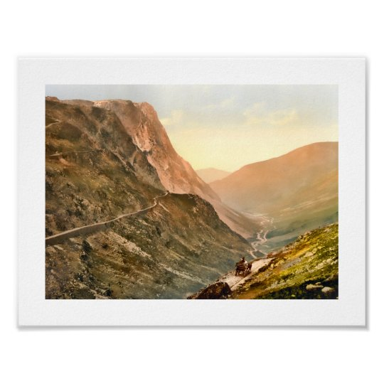 Honister Pass, Lake District England Poster