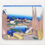 Honjo Tatekawa, the timberyard at Honjo Hokusai Mouse Pad
