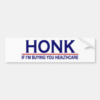 Honk Healthcare (Obamacare) Bumper Stickers