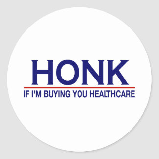 Honk Healthcare (Obamacare) Classic Round Sticker