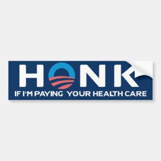 Honk If... Health Care Bumper Sticker
