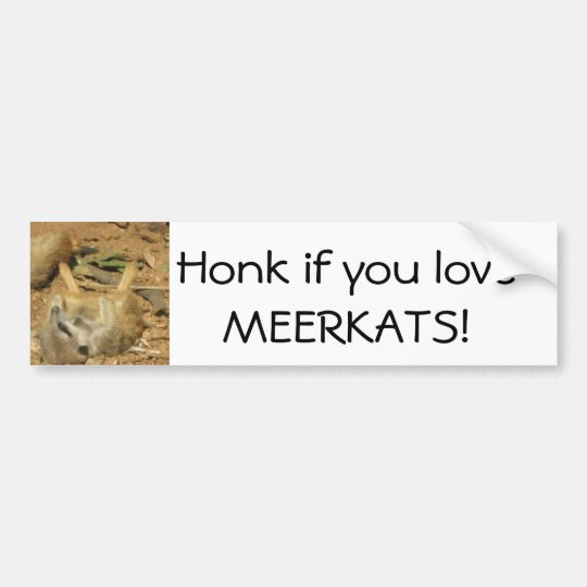 Honk if you love MEERKATS! Bumper Sticker