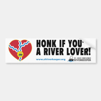 Honk if You're a River Lover Bumper Sticker