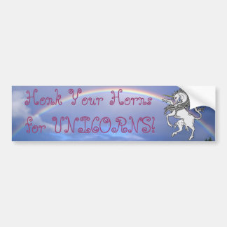 Honk Your Horns for Unicorns! Bumper Sticker