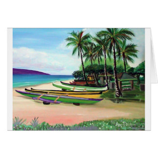 Honokao'o Beach Park Greeting Card