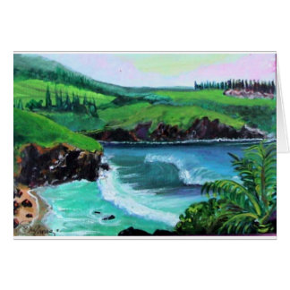 honolua bay 1 greeting card