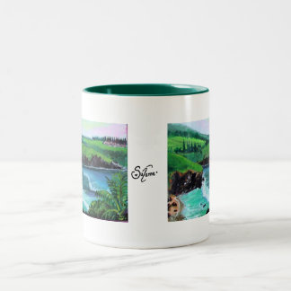 honolua bay 1 Two-Tone coffee mug