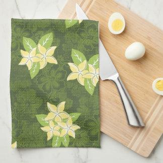 Honolua Plumeria Hawaiian Tropical Print Kitchen Towels