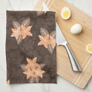 Honolua Plumeria Hawaiian Tropical Print Towels