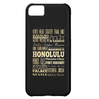 Honolulu City of Hawaii State Typography Art Cover For iPhone 5C