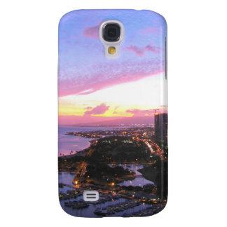 Honolulu cityscape Hawaii sunset Galaxy S4 Case