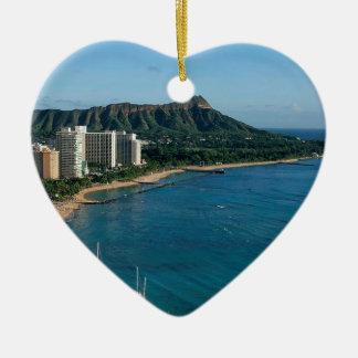 Honolulu Hawaii Ceramic Heart Decoration