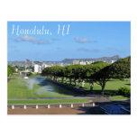 Honolulu Hawaii Diamond Head Punchbowl Crater Post Card