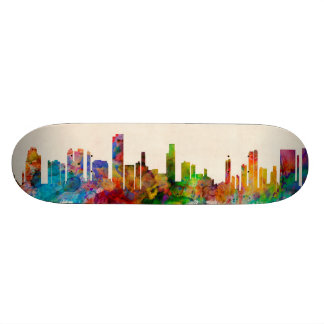 Honolulu Hawaii Skyline Cityscape Skate Board Deck