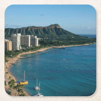 Honolulu Hawaii Square Paper Coaster