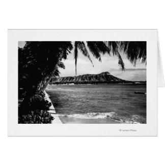 Honolulu, Hawaii - View of Diamond Head Greeting Card