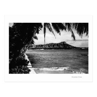 Honolulu, Hawaii - View of Diamond Head Postcard
