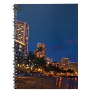 Honolulu, Oahu, Hawaii. Night exposure of Notebooks