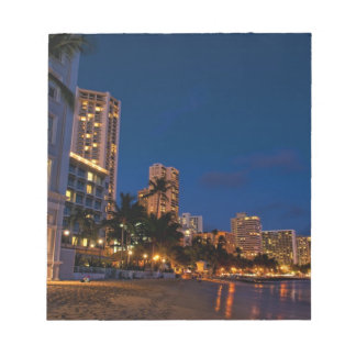Honolulu, Oahu, Hawaii. Night exposure of Notepad