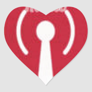 Honor America Radio/ Web TV Promo Irems Heart Sticker