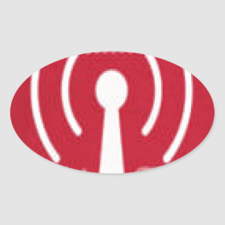 Honor America Radio/ Web TV Promo Irems Oval Sticker