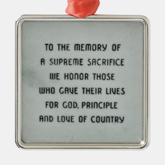 Honor and Remember Military Ornament