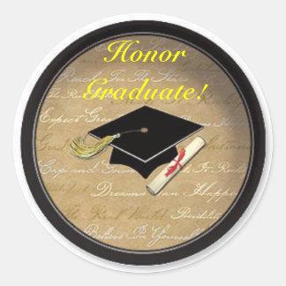 Honor Graduate!! Round Sticker